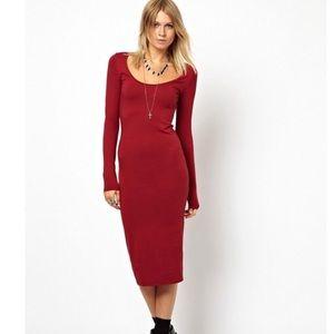 ASOS midi body- con dress.